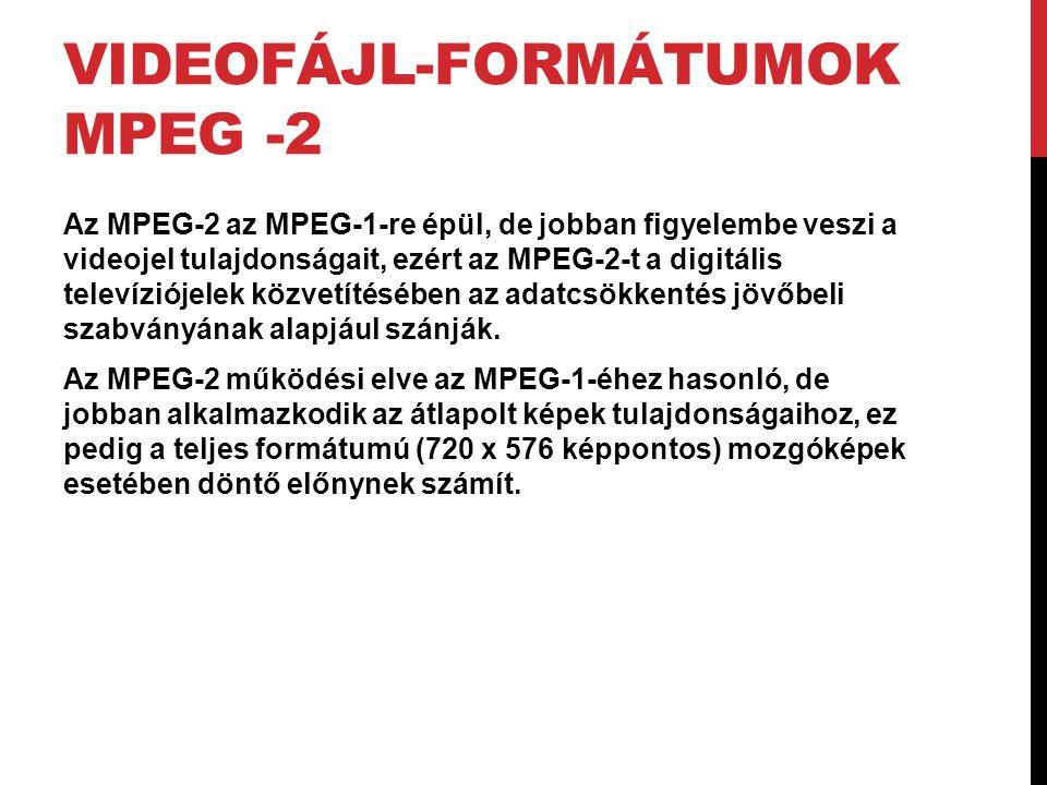 Videofájl-formátumok MPEG -2