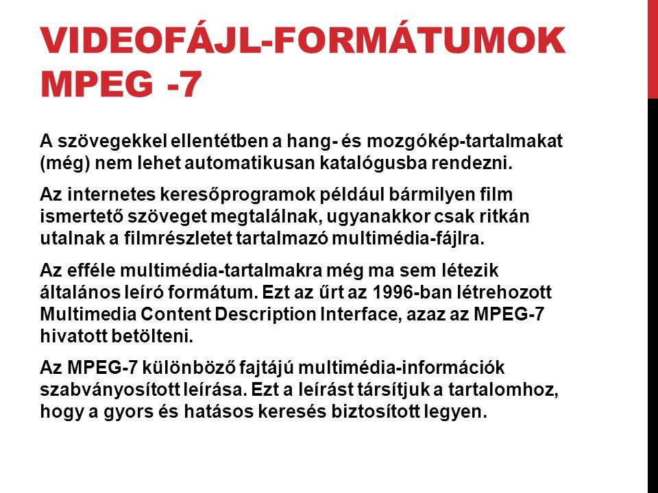 Videofájl-formátumok MPEG -7
