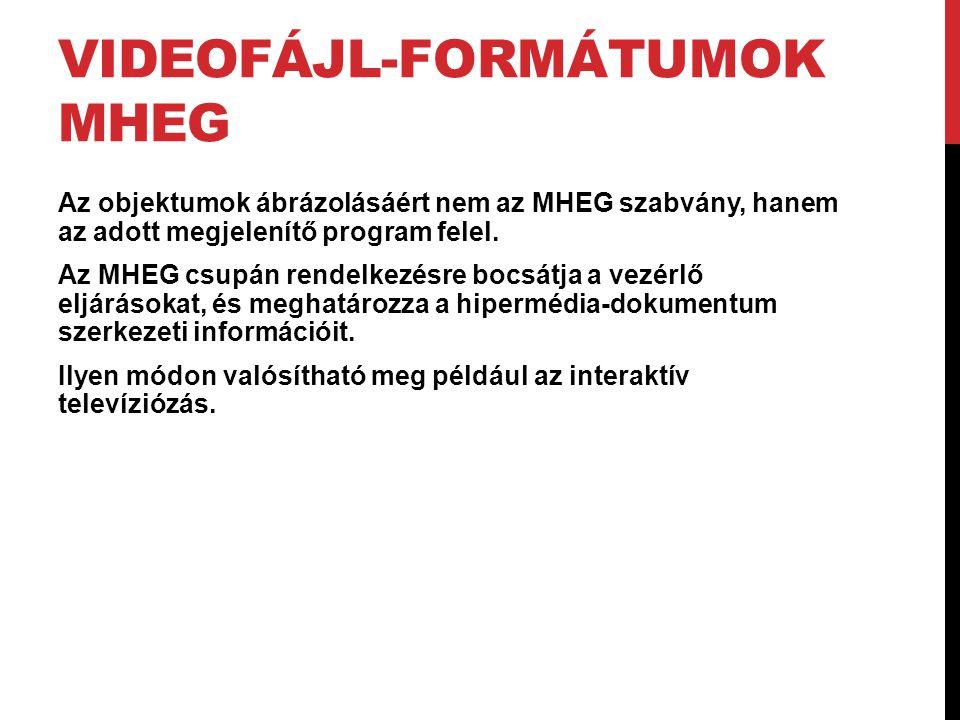 Videofájl-formátumok MHEG
