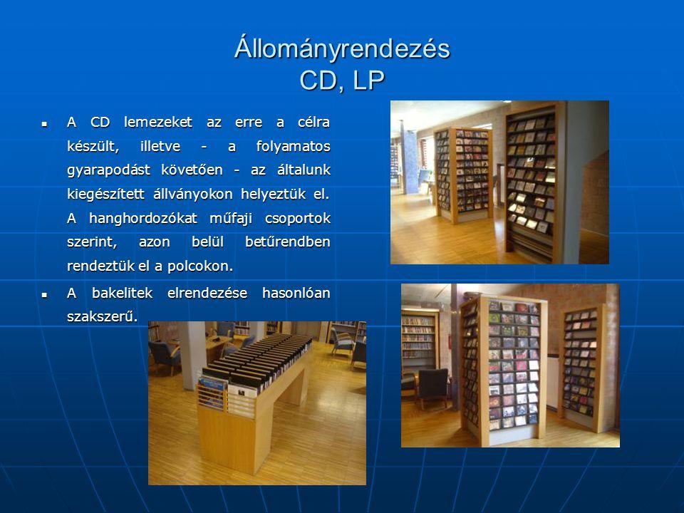 Állományrendezés CD, LP