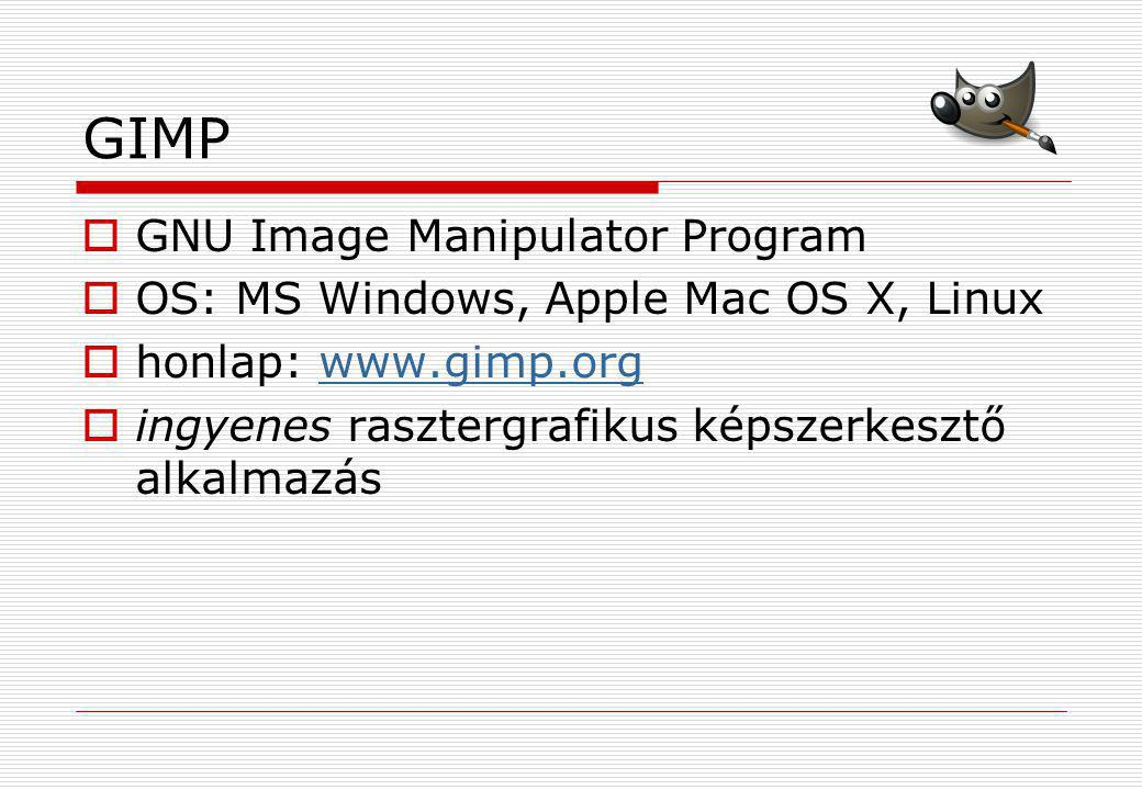 GIMP GNU Image Manipulator Program