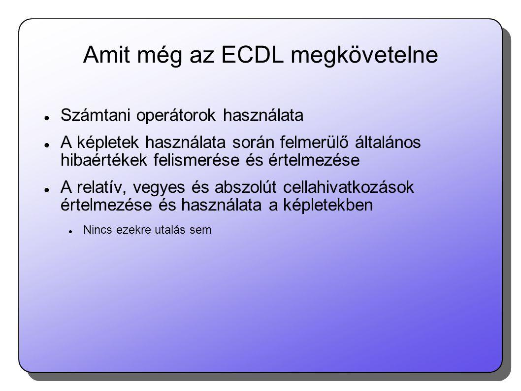 Amit még az ECDL megkövetelne