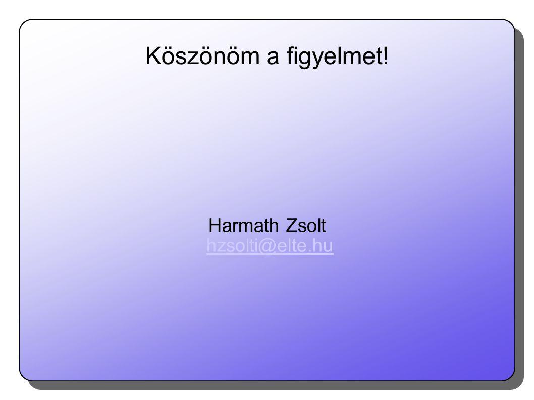 Harmath Zsolt hzsolti@elte.hu