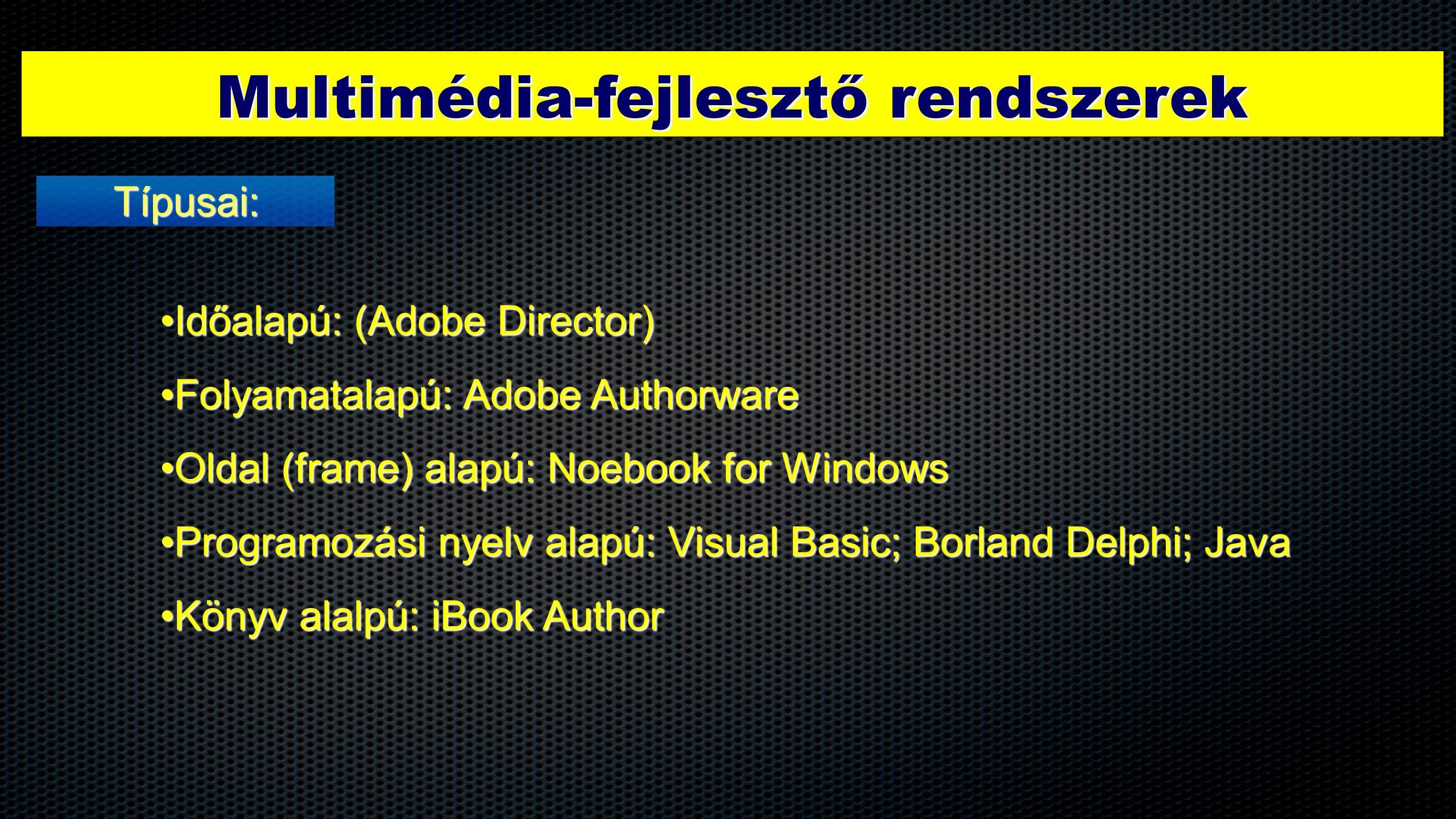 Multimédia-fejlesztő rendszerek
