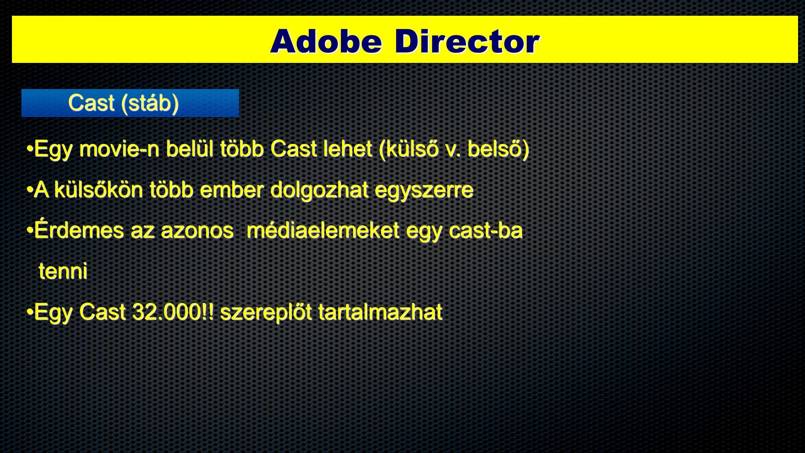 Adobe Director Cast (stáb)