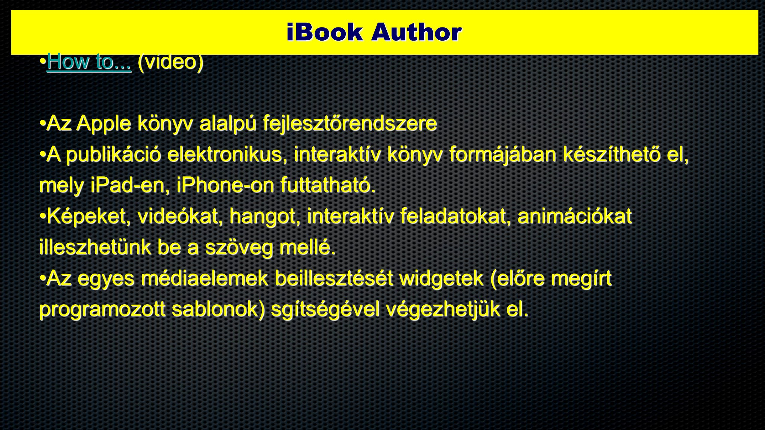 iBook Author How to... (video)