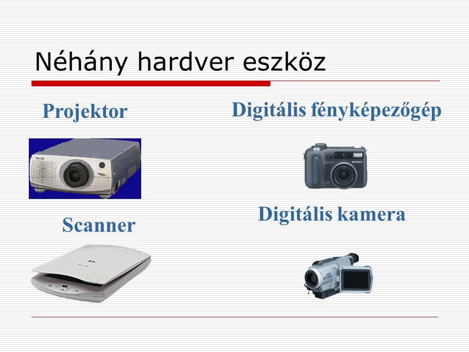 Néhány hardver eszköz Projektor Digitális fényképezőgép