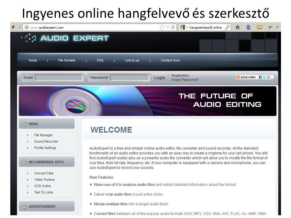 Ingyenes online hangfelvevő és szerkesztő