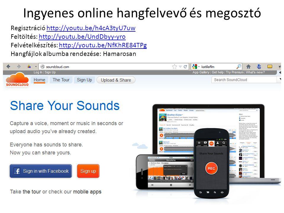 Ingyenes online hangfelvevő és megosztó