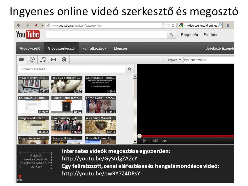 Ingyenes online videó szerkesztő és megosztó