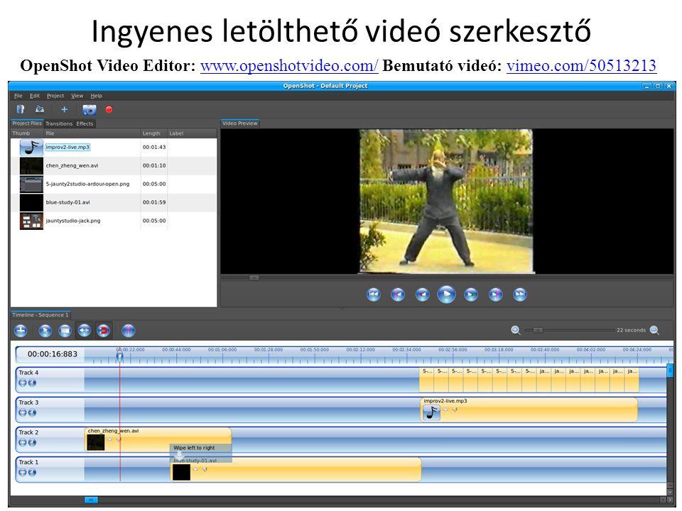 Ingyenes letölthető videó szerkesztő