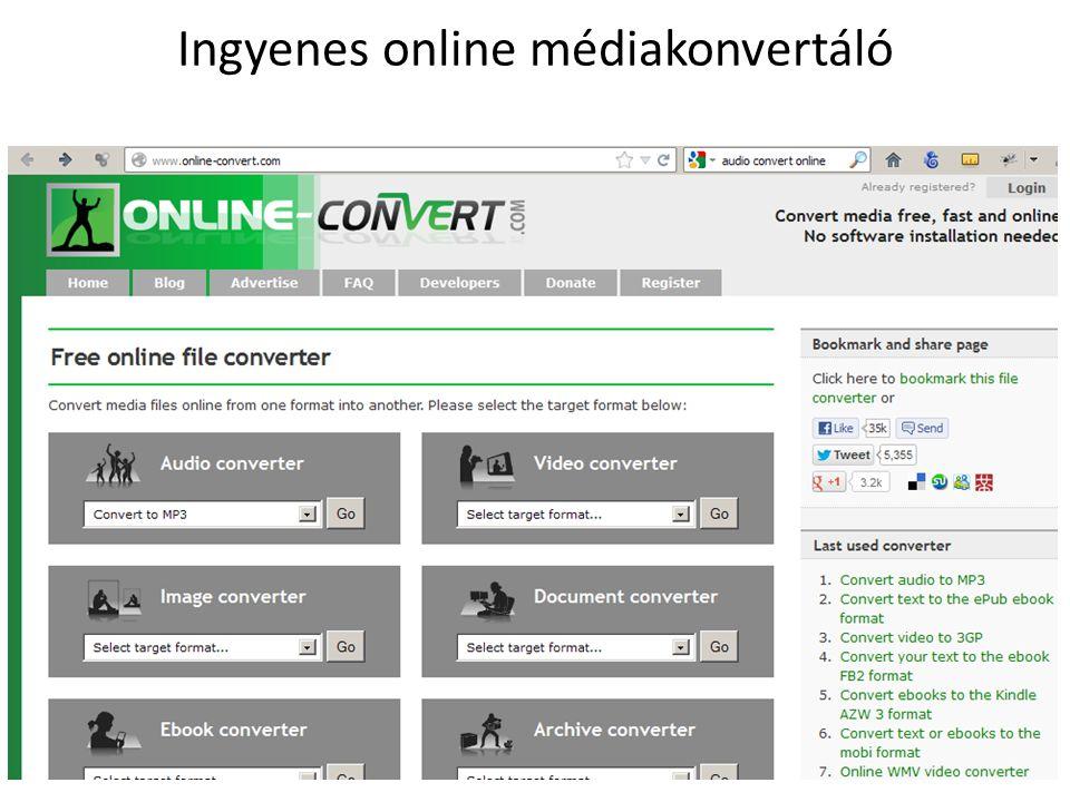 Ingyenes online médiakonvertáló