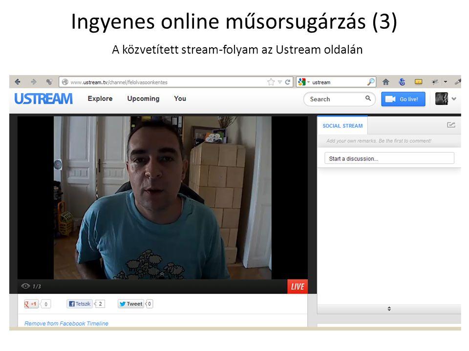 Ingyenes online műsorsugárzás (3)