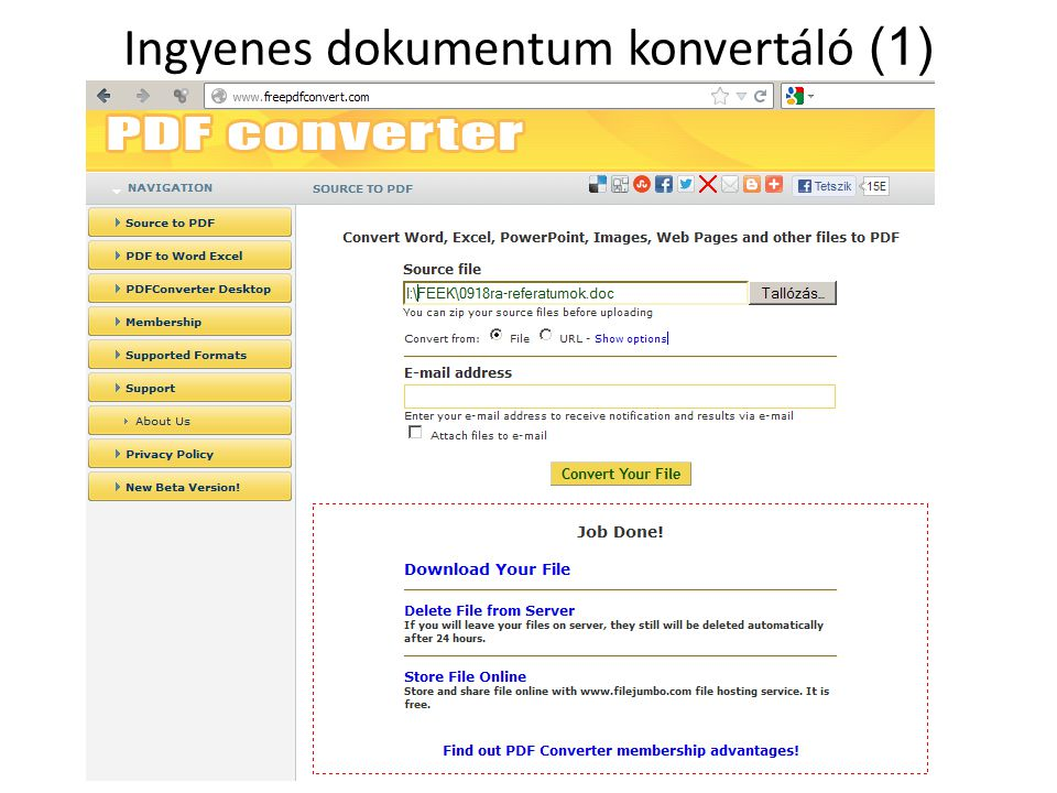 Ingyenes dokumentum konvertáló (1)