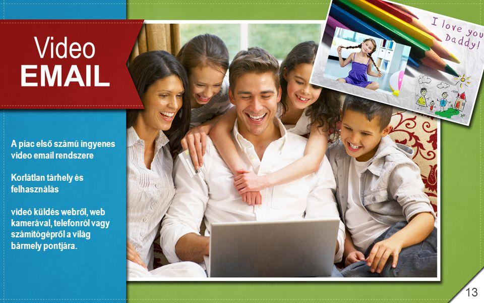 Video EMAIL 13 A piac első számú ingyenes video email rendszere