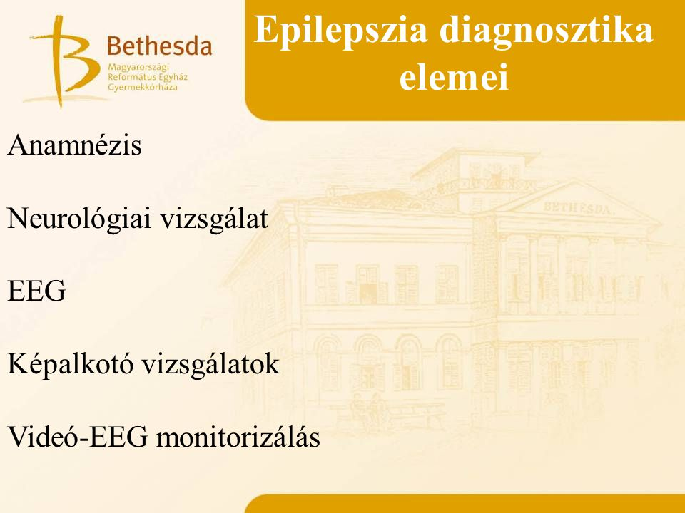 Epilepszia diagnosztika elemei