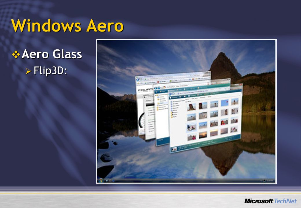 Windows Aero Aero Glass Flip3D: