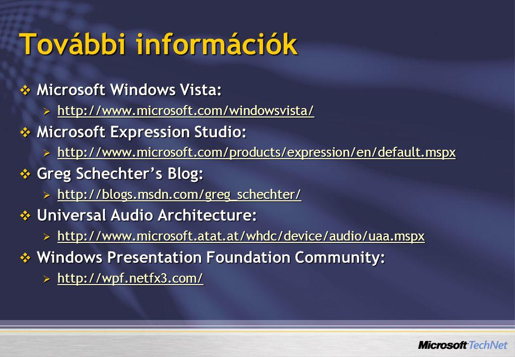 További információk Microsoft Windows Vista: