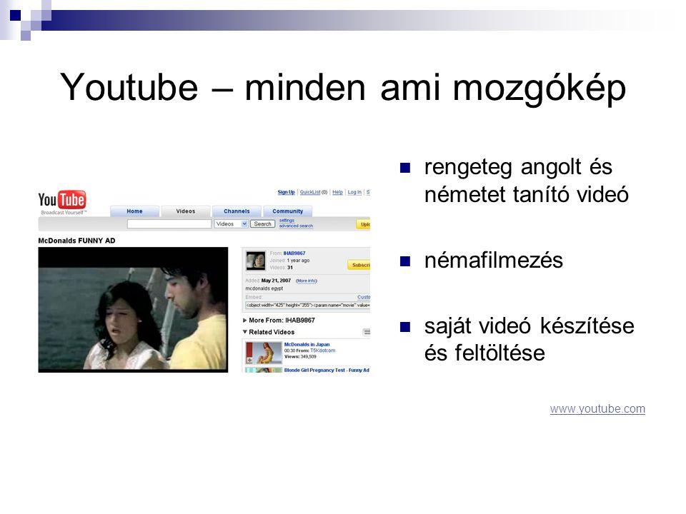 Youtube – minden ami mozgókép
