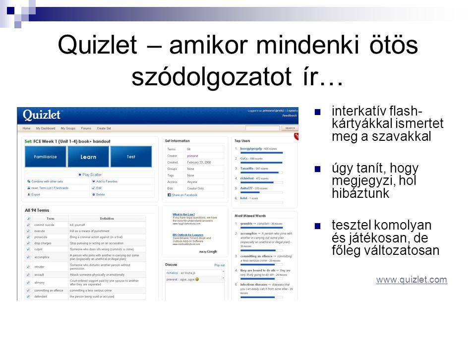 Quizlet – amikor mindenki ötös szódolgozatot ír…