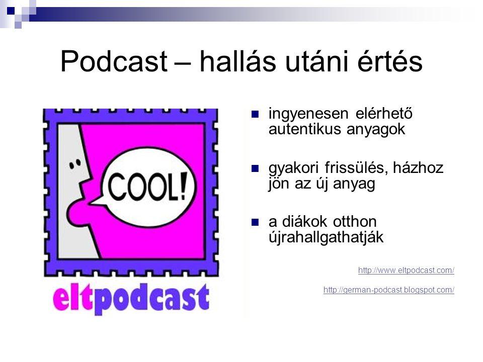 Podcast – hallás utáni értés