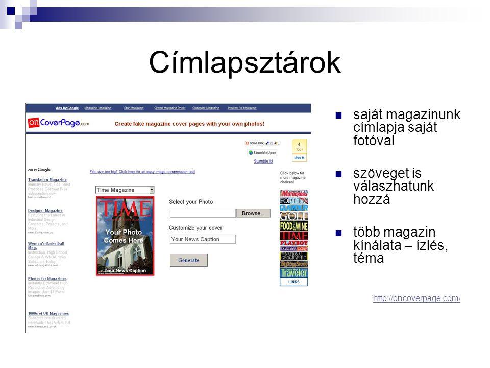 Címlapsztárok saját magazinunk címlapja saját fotóval