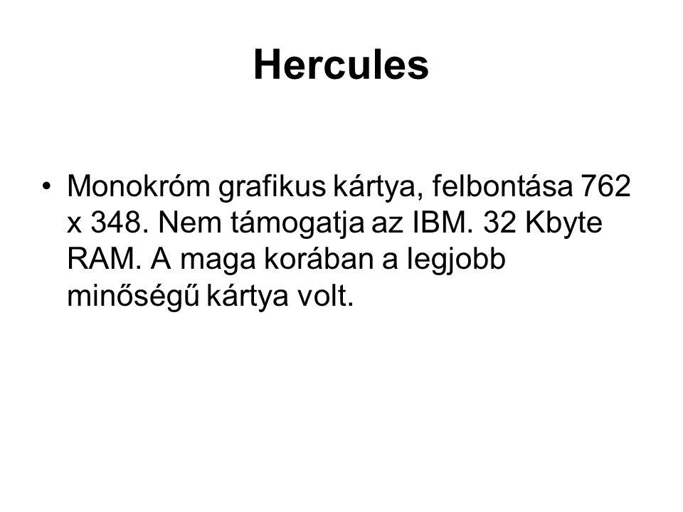 Hercules Monokróm grafikus kártya, felbontása 762 x 348.