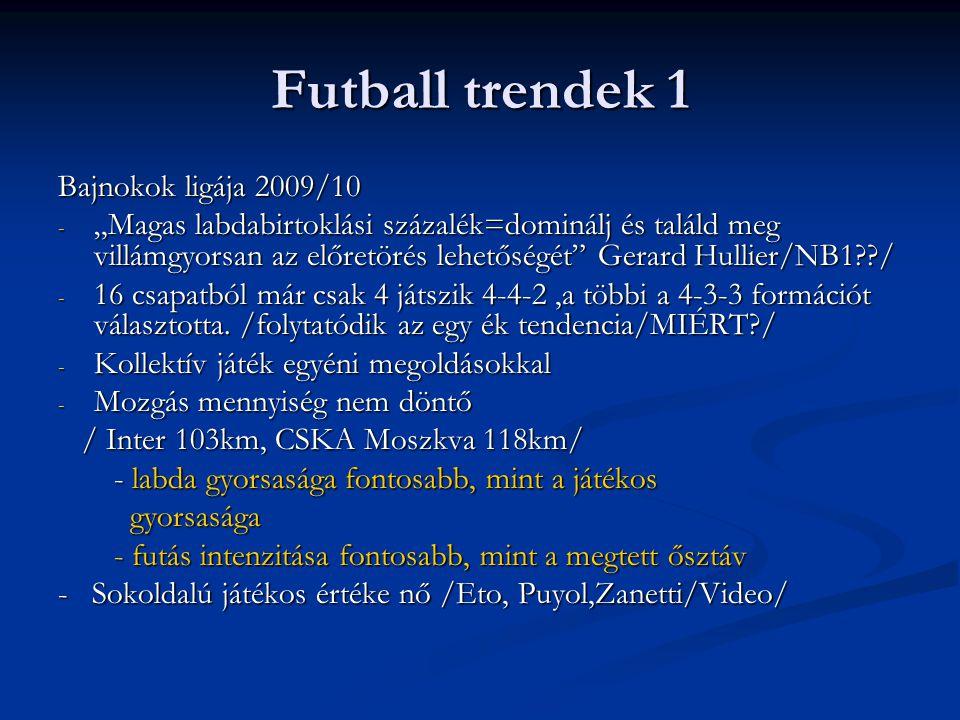 Futball trendek 1 Bajnokok ligája 2009/10