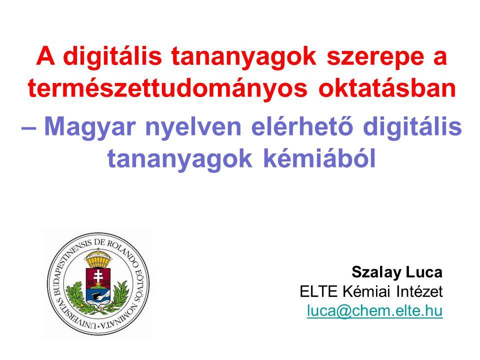 A digitális tananyagok szerepe a természettudományos oktatásban
