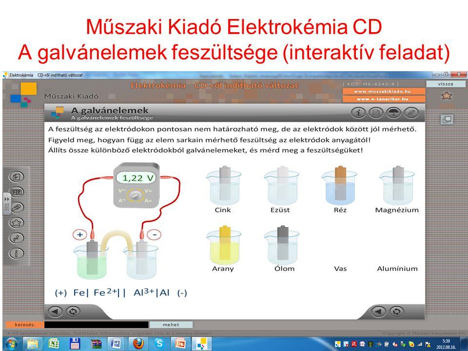 Műszaki Kiadó Elektrokémia CD A galvánelemek feszültsége (interaktív feladat)