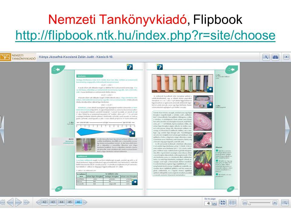Nemzeti Tankönyvkiadó, Flipbook http://flipbook. ntk. hu/index. php