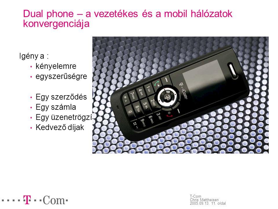 Dual phone – a vezetékes és a mobil hálózatok konvergenciája
