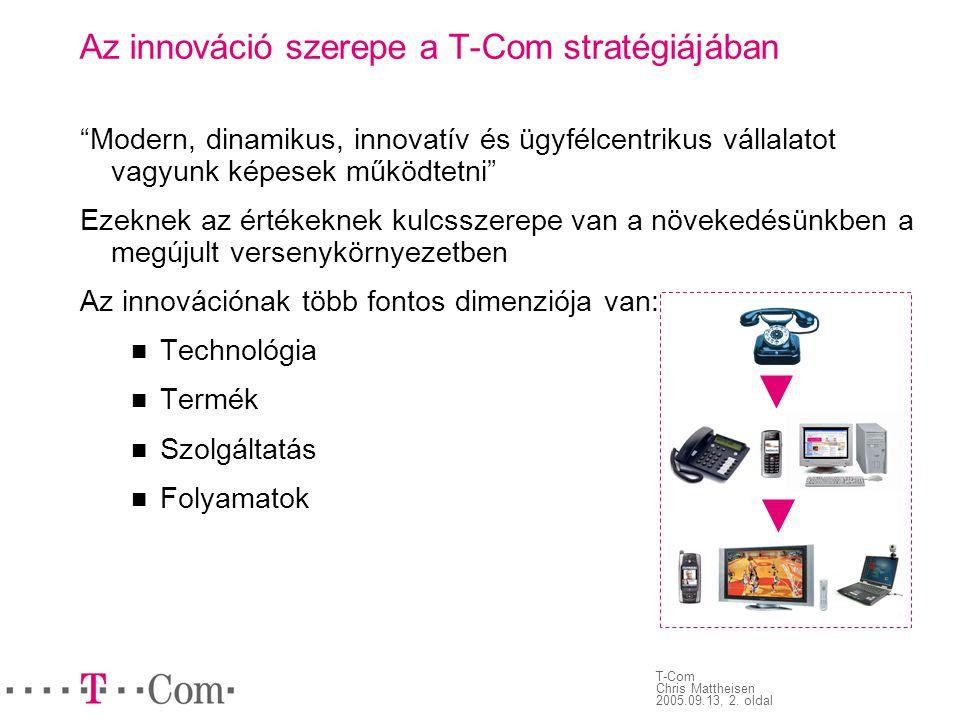 Az innováció szerepe a T-Com stratégiájában