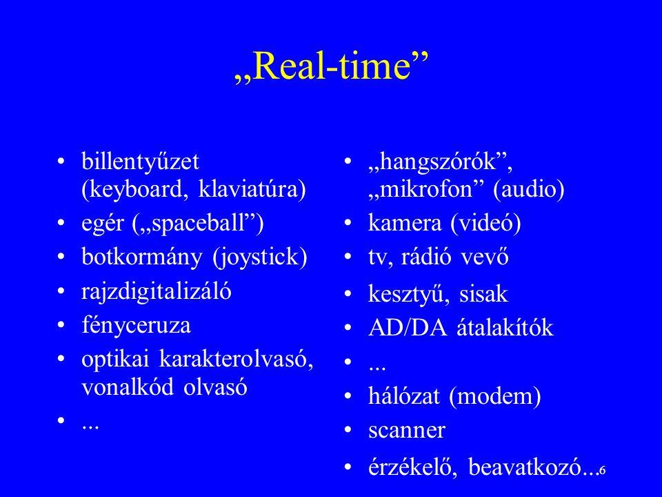 """Real-time billentyűzet (keyboard, klaviatúra) egér (""spaceball )"