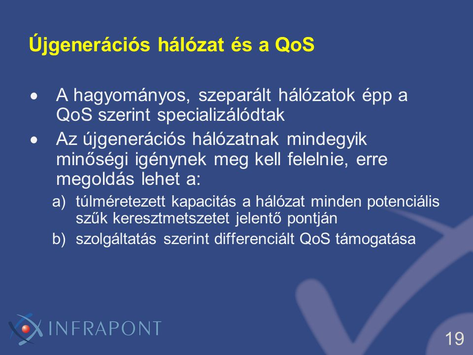 Újgenerációs hálózat és a QoS