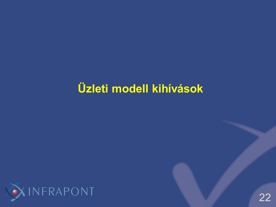 Üzleti modell kihívások