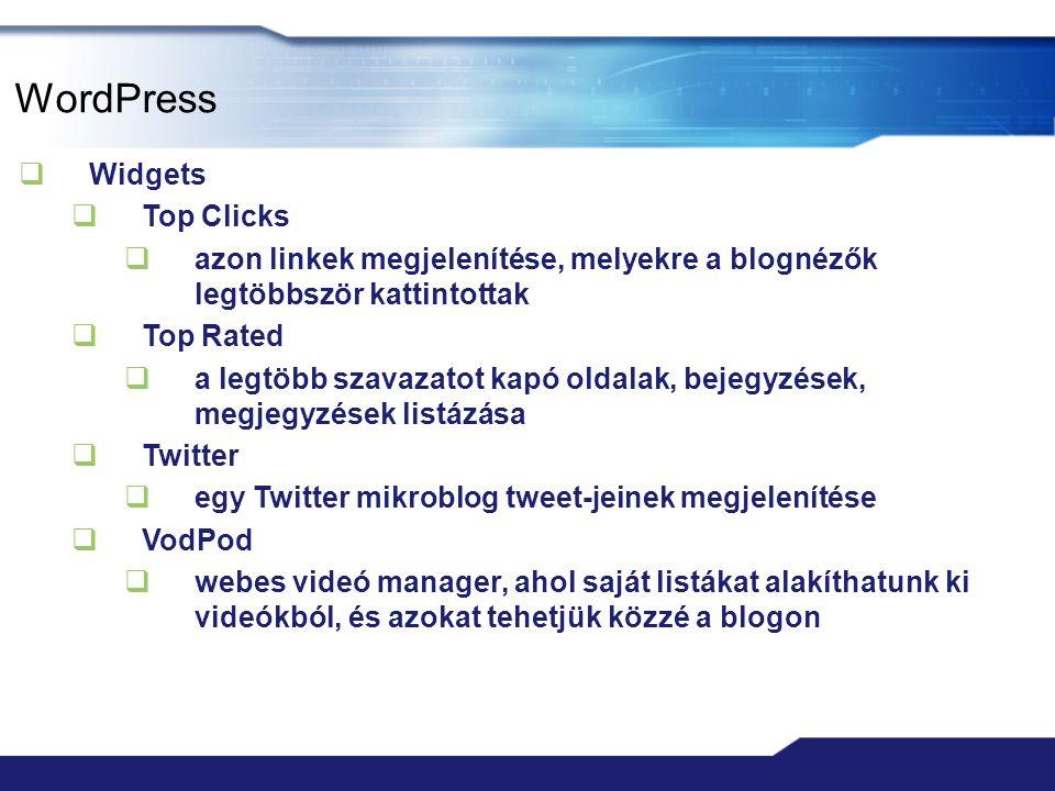 WordPress Widgets Top Clicks