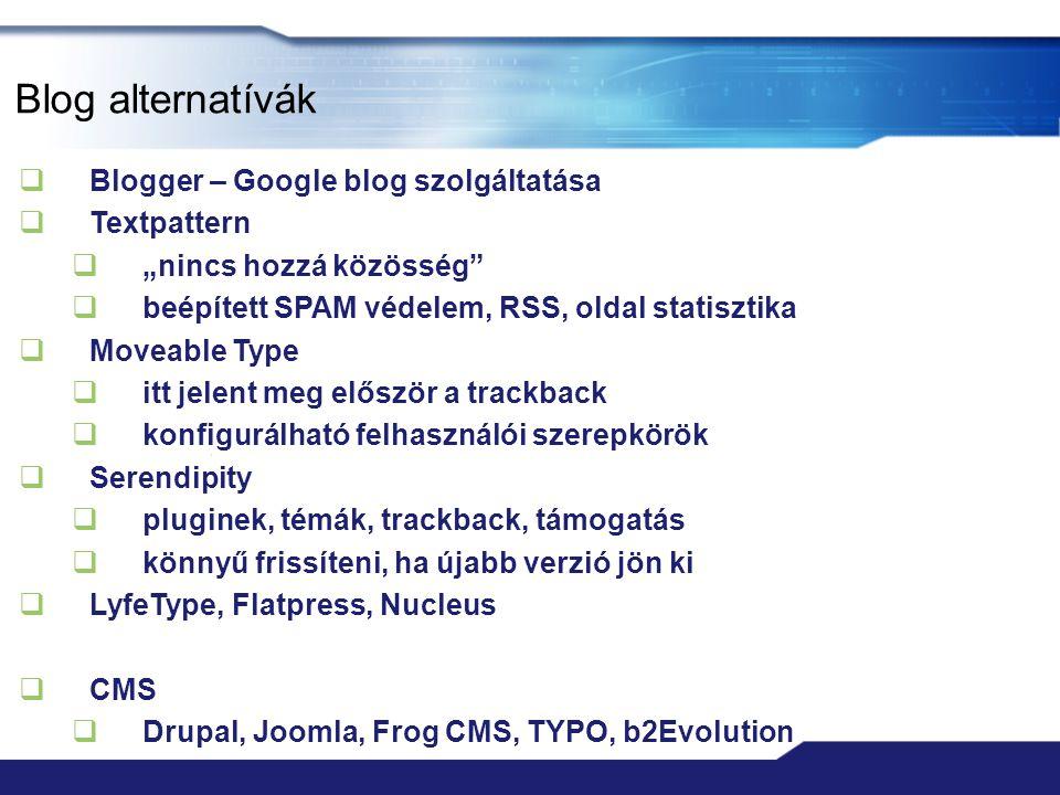 Blog alternatívák Blogger – Google blog szolgáltatása Textpattern