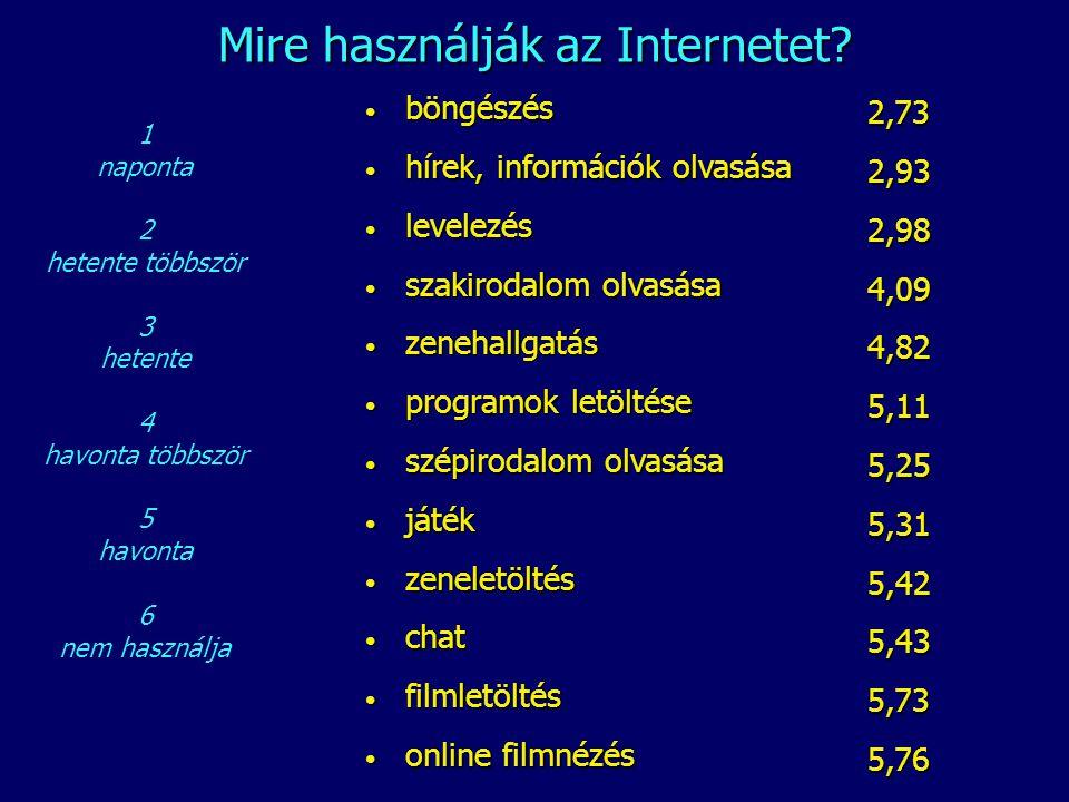 Mire használják az Internetet