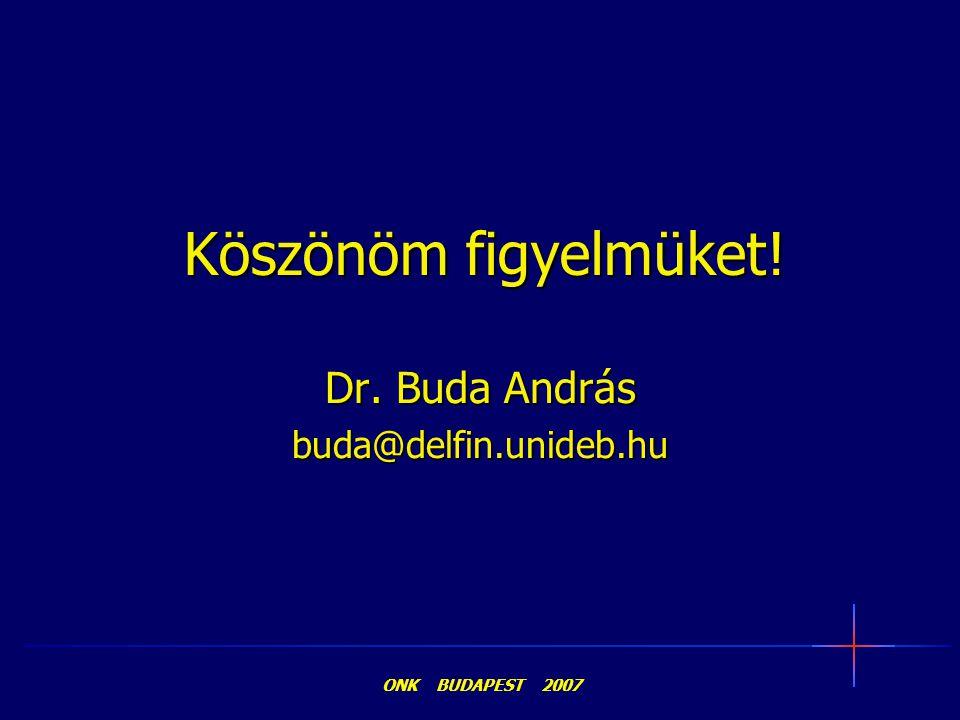 Dr. Buda András buda@delfin.unideb.hu