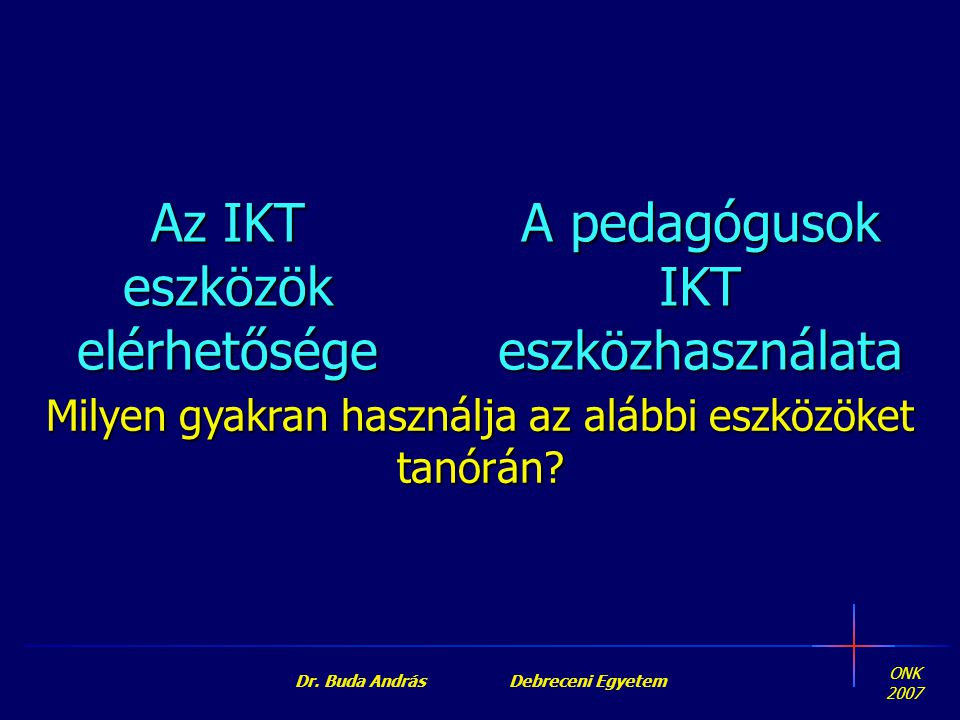 Dr. Buda András Debreceni Egyetem