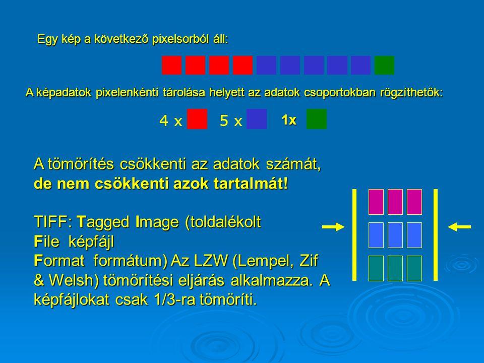 TIFF: Tagged Image (toldalékolt File képfájl