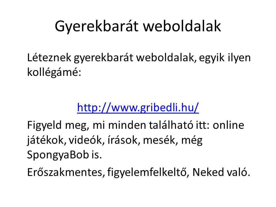 Gyerekbarát weboldalak