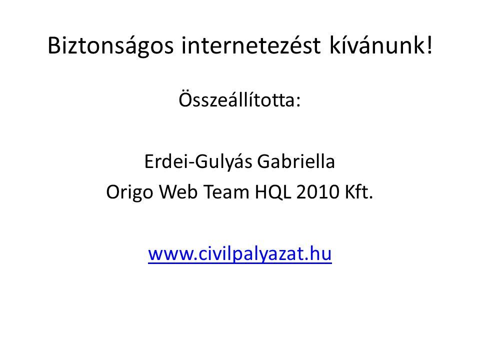Biztonságos internetezést kívánunk!