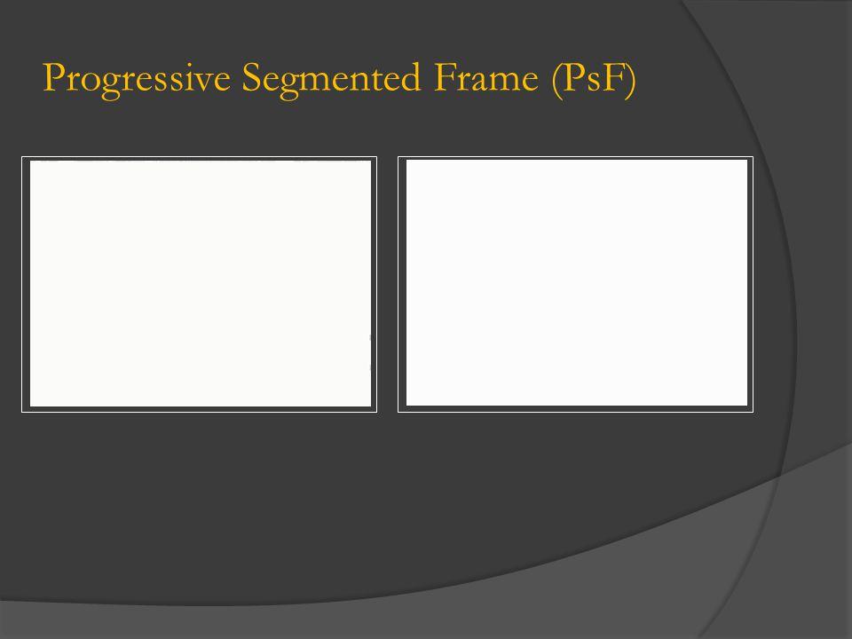 Progressive Segmented Frame (PsF)