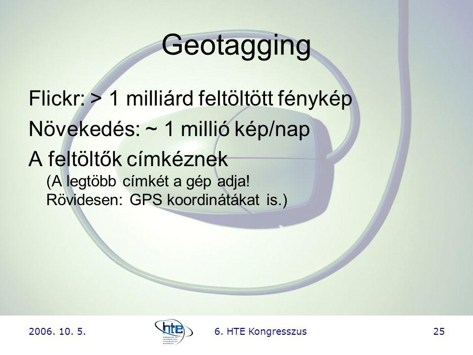Geotagging Flickr: > 1 milliárd feltöltött fénykép