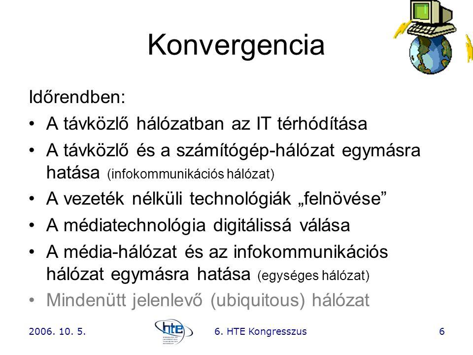 Konvergencia Időrendben: A távközlő hálózatban az IT térhódítása