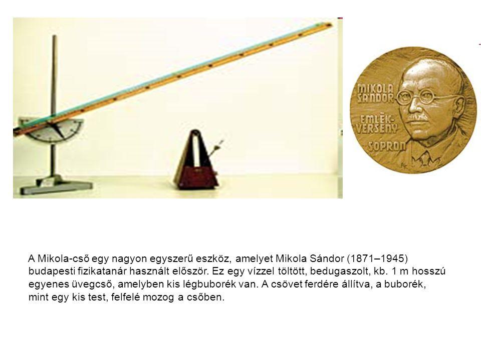 A Mikola-cső egy nagyon egyszerű eszköz, amelyet Mikola Sándor (1871–1945) budapesti fizikatanár használt először.