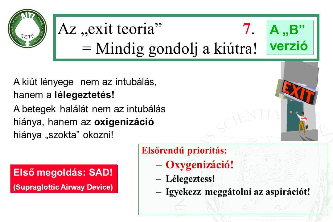 """Az """"exit teoria 7. = Mindig gondolj a kiútra!"""
