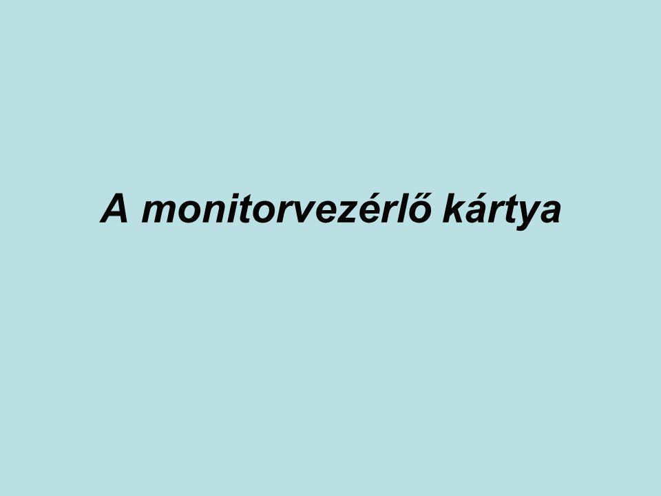 A monitorvezérlő kártya